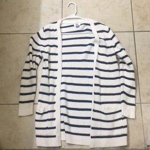 Striped Longline Cardigan
